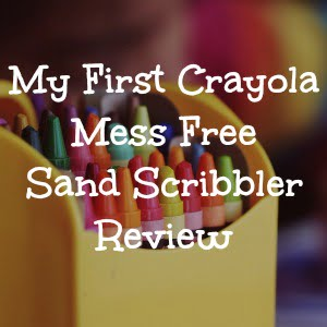 Review of the crayola mess free sand scribbler