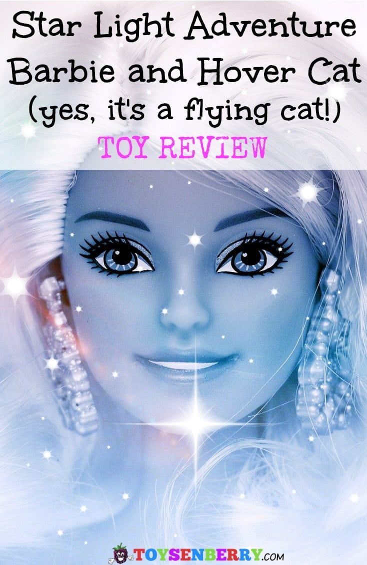 Star Light Adventure Galaxy Barbie and Hover cat is a fun Barbie toy for girls. Yes, the cat really flies!
