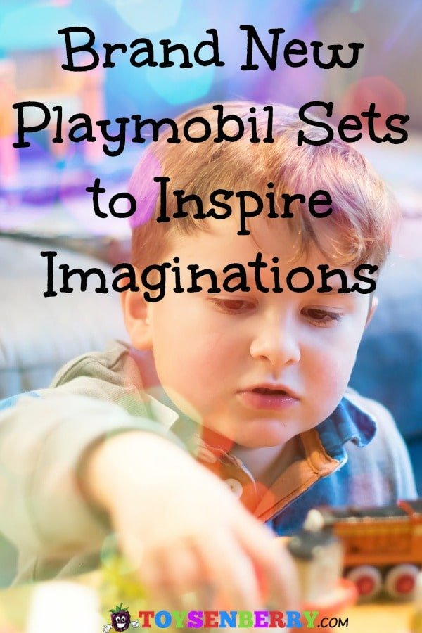 young boy playing with the best new Playmobil sets.