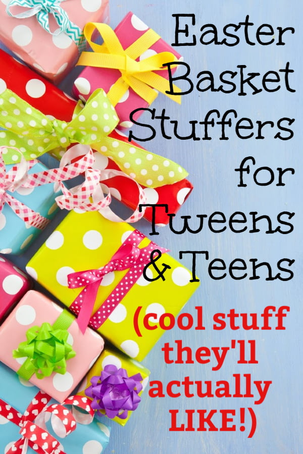 Easter basket filler ideas for tweens and teens